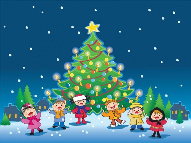 Free-merry-christmas-children-computer-desktop-wallpapers-pictures